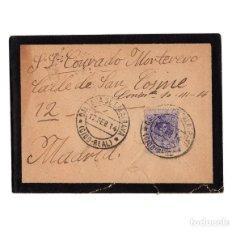 Postales: MADRID.- CARTERÍA, MATASELLOS.CALZADA DE CALATRAVA.(CIUDAD REAL).1914.. Lote 202814392