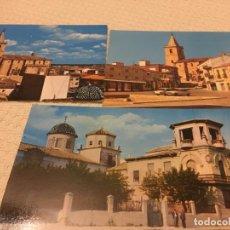 Postales: TRES POSTALES DE LA RODA DE ALBACETE,CONDES DE VILLALEAL,PLAZA MAYOR Y PANORÁMICA,HOSTAL MOLINA. Lote 205333672