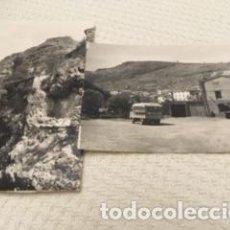 Postales: ALBACETE, DOS POSTALES DE MOLINICOS, ESPLANADA DEL PUENTE Y CASTILLO. Lote 205333808