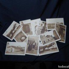 Postales: AÑOS 1940.LOTE 10 POSTALES ANTIGUA DE EL TOBOSO. FOTOGRAFIA BELDA. ALBACETE.TOLEDO. POSTAL. Lote 205666360
