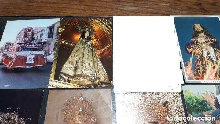 Postales: POSTALES ANTIGUAS DE VALDEPEÑAS CIUDAD REAL LOTE DE 10 UDS. VIRGEN DE CONSOLACION - NTR. PADRE JESUS - Foto 2 - 199936823