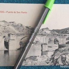 Postales: POSTAL TOLEDO. PUENTE DE SAN MARTÍN. Lote 206210240