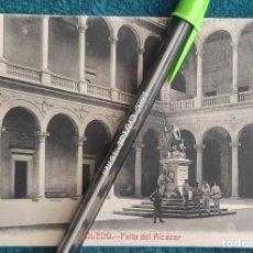 Postales: POSTAL TOLEDO. PATIO DEL ALCÁZAR. Lote 206210698