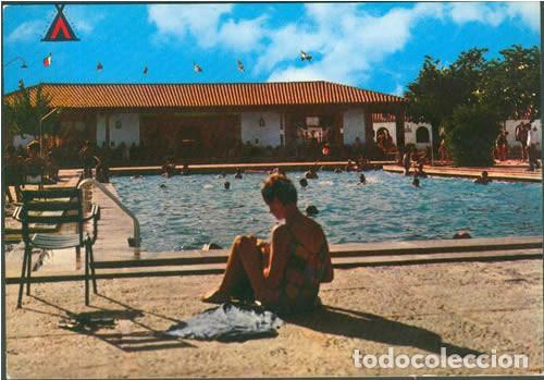 POSTAL TOLEDO CAMPING EL GRECO PISCINA EL ANGEL RESTAURANTE 1965 ED. ARRIBAS (Postales - España - Castilla la Mancha Moderna (desde 1940))