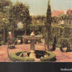 Postales: FUENTE CENTRAL DEL JARDIN. PALACIO DE DON ALVARO DE BAZÁN. VISO DEL MARQUÉS.CIUDAD REAL. Lote 208569800