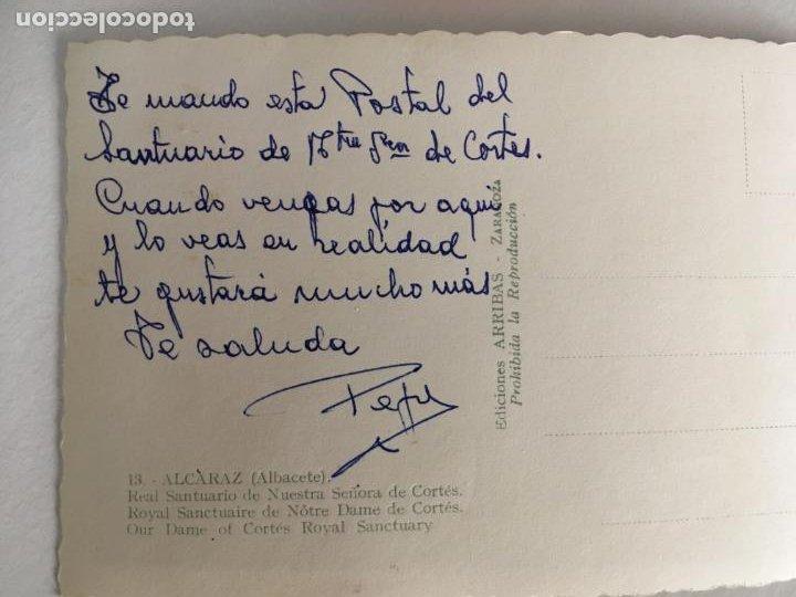 Postales: Albacete,postal Santuario Nuestra Señora de Cortes,Patrona de Alcaraz, Arribas. escrita - Foto 2 - 209832171