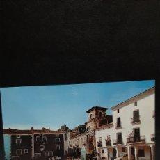 Postales: POSTAL DE CAÑETE, CUENCA. PLAZA DEL CAUDILLO E IGLESIA SAN JULIAN.. Lote 210156143