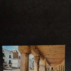 Postales: POSTAL DE CAÑETE, CUENCA. SOPORTALES DE LA PLAZA. SIN CIRCULAR. IMAGEN ANTIGUA.. Lote 210156180