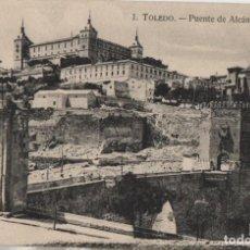 Postales: PUENTE DE ALCANTARA Y ALCAZAR-TOLEDO. Lote 210166615