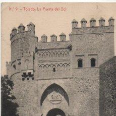Postales: LA PUERTA DEL SOL-TOLEDO. Lote 210169545