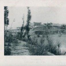 Postales: LÁMINA-TOLEDO-VISTA DESDE EL CAMPO DEL REY -HAUSER Y MENET- 24X30 AÑO 1891- RARA. Lote 210651057