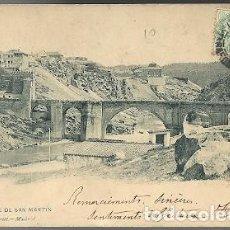 Postales: ANTIGUA POSTAL 1333 TOLEDO PUENTE DE SAN MARTIN HAUSER Y MENET MADRID ESCRITA. Lote 210703054