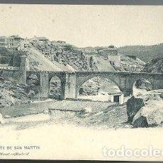 Postales: ANTIGUA POSTAL 1333 TOLEDO PUENTE DE SAN MARTIN HAUSER Y MENET MADRID. Lote 210703092