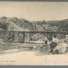 Postales: ANTIGUA POSTAL 1333 TOLEDO PUENTE DE SAN MARTIN HAUSER Y MENET. Lote 210703166