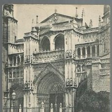 Postales: ANTIGUA POSTAL 1359 TOLEDO PORTADA DE LA CATEDRAL HAUSER Y MENET MADRID. Lote 210703246