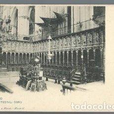 Postales: ANTIGUA POSTAL 1361 TOLEDO CATEDRAL CORO HAUSER Y MENET MADRID. Lote 210703280