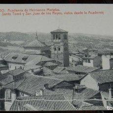 Postales: POSTAL DE TOLEDO, ACADEMIA DE HERMANOS MARISTAS. CARRERA MILITAR, BACHILLERATO, CORREOS Y TELEGRAFOS. Lote 210972670