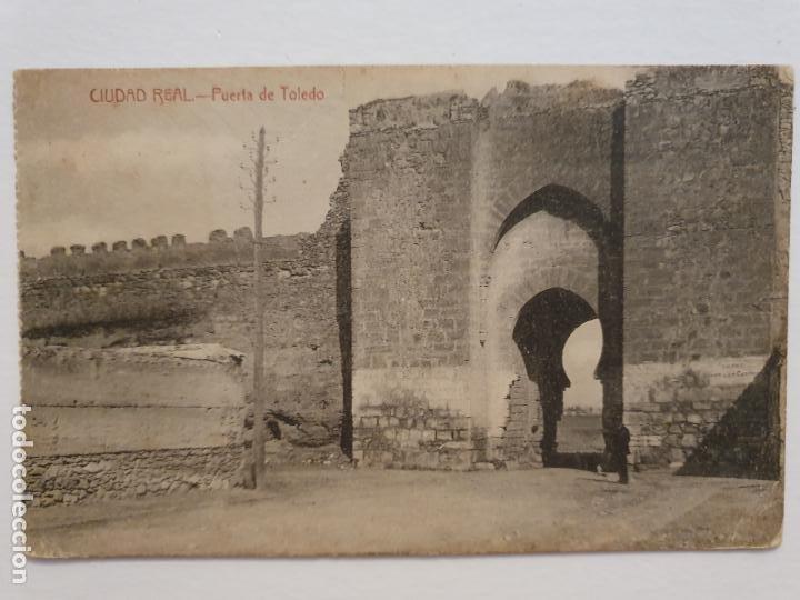 CIUDAD REAL - PUERTA DE TOLEDO - LMX - CLM4 (Postales - España - Castilla La Mancha Antigua (hasta 1939))