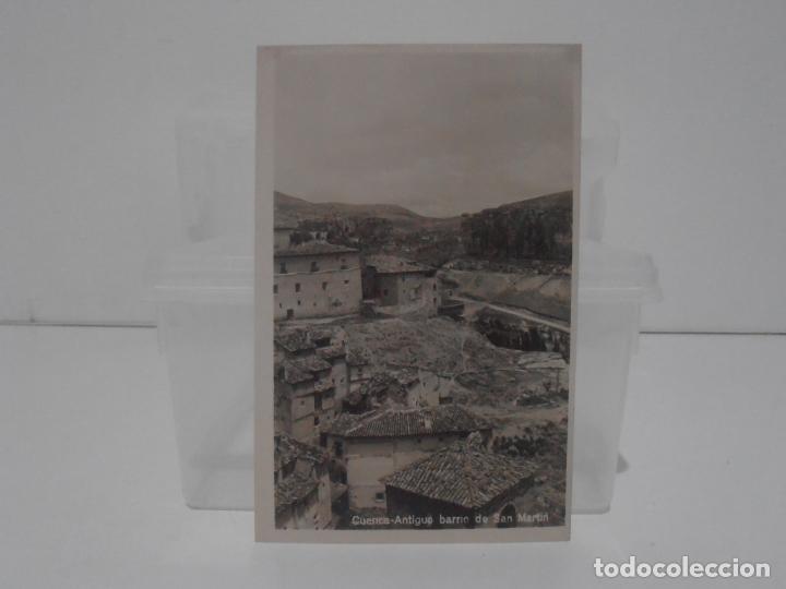 ANTIGUA POSTAL, CUENCA, ANTIGUO BARRIO DE SAN MARTIN, SIN CIRCULAR (Postales - España - Castilla La Mancha Antigua (hasta 1939))