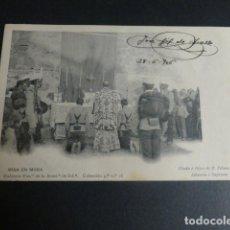 Cartes Postales: TOLEDO ACADEMIA DE INFANTERIA MISA EN MORA 1906. Lote 216642035