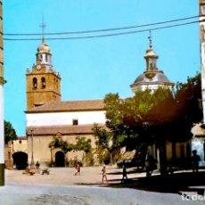 Cartes Postales: PUENTE DEL ARZOBISPO (TOLEDO). 3 PLAZA E IGLESIA PARROQUIAL. EULALIA CASAS. NUEVA. COLOR. Lote 216753131