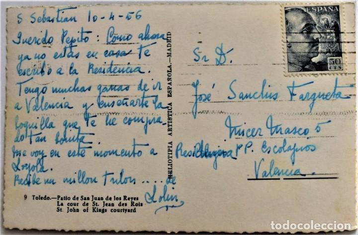 Postales: TOLEDO - PATIO DE SAN JUAN DE LOS REYES - HELIOTIPIA ARTISTICA ESPAÑOLA (MADRID) - Foto 2 - 217329510