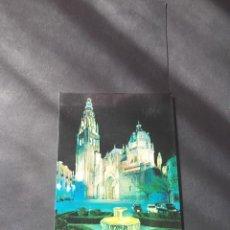 Postales: POSTAL DE TOLEDO -CATEDRAL ILUMINADA - - BONITAS VISTAS - LA DE LA FOTO VER TODAS MIS POSTALES. Lote 219852032