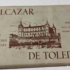 Postales: POSTALES ANTIGUAS EL ALCAZAR DE TOLEDO 21 POSTALES FOTOS JALON ANGEL Y HAUSSER Y MENET MADRID. Lote 220365717