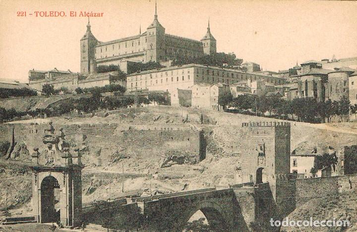 TOLEDO, EL ALCAZAR, EDITOR: FOTOTIPIA THOMAS Nº 221 (Postales - España - Castilla La Mancha Antigua (hasta 1939))
