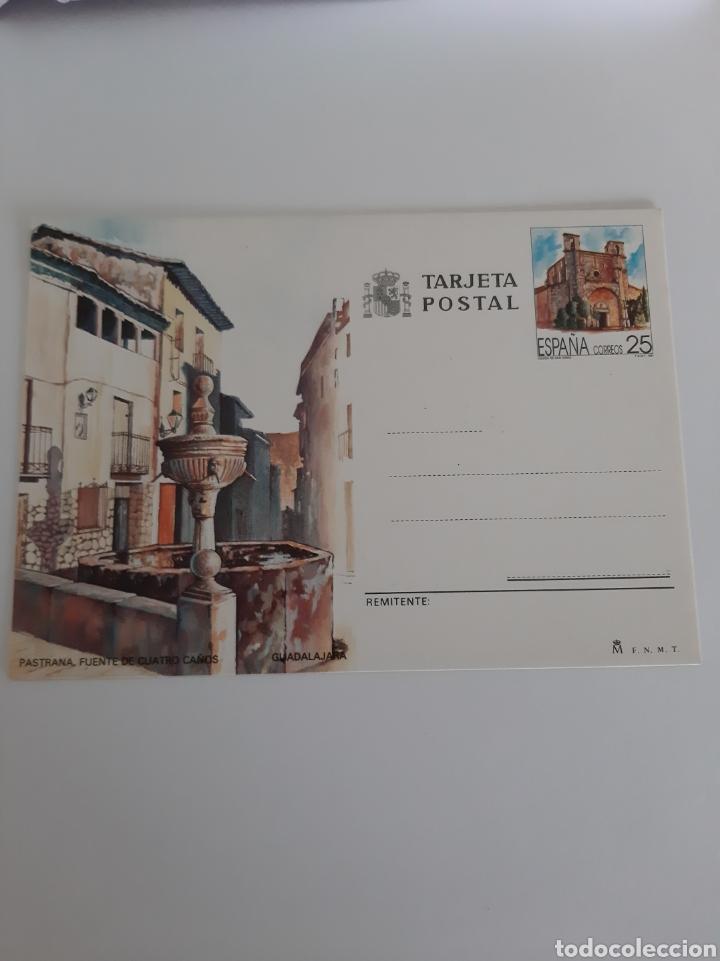 GUADALAJARA FUENTE CUATRO CAÑOS /CATEDRAL ENTERO POSTAL EDIFIL 151 1991 (Postales - España - Castilla la Mancha Moderna (desde 1940))