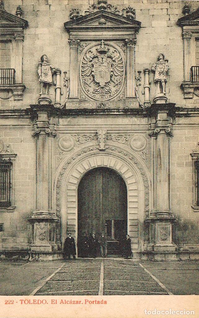 TOLEDO, EL ALCAZAR, PORTADA, EDITOR: FOTOTIPIA THOMAS Nº 222 (Postales - España - Castilla La Mancha Antigua (hasta 1939))