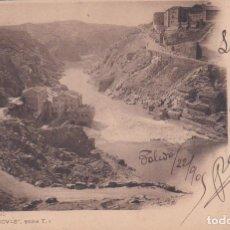 Postales: TOLEDO - EL TAJO - COLECCION CANOVAS SERIE T. Lote 221321867
