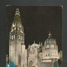 Postales: POSTAL CIRCULADA - TOLEDO 1471 - CATEDRAL ILUMINADA - EDITA ARRIBAS. Lote 221569566