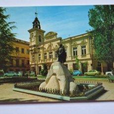 Postales: POSTAL. 58. GUADALAJARA. AYUNTAMIENTO Y MONUMENTO AL GENERALÍSIMO FRANCO. ED. FRANCISCO VACAS.. Lote 221836455