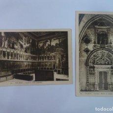 Postales: LOTE DE 2 ANTIGUAS POSTALES FOTOGRÁFICAS, CATEDRAL DE TOLEDO, VER FOTOS. Lote 222065816