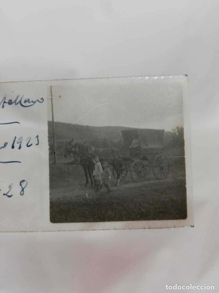 FOTOGRAFIA ESTEREOSCOPICA EN CRISTAL DE PUERTOLLANO, CIUDAD REAL, CARRETA, AÑO 1923, MIDE 10,6 X 4,3 (Postales - España - Castilla La Mancha Antigua (hasta 1939))