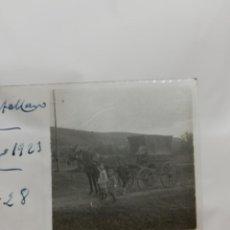 Postales: FOTOGRAFIA ESTEREOSCOPICA EN CRISTAL DE PUERTOLLANO, CIUDAD REAL, CARRETA, AÑO 1923, MIDE 10,6 X 4,3. Lote 222252566