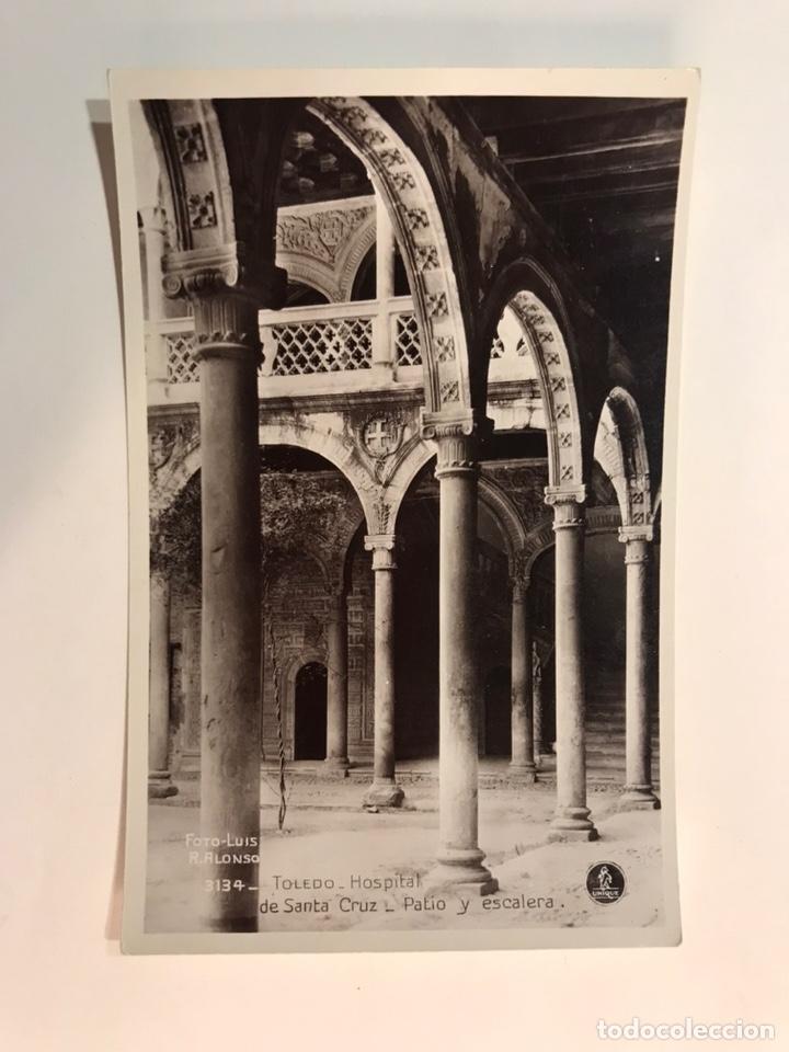 TOLEDO. POSTAL NO.3134, HOSPITAL DE SANTA CRUZ. PATIO Y ESCALERA, EDIC. UNIQUE (H.1940?) S/C (Postales - España - Castilla La Mancha Antigua (hasta 1939))