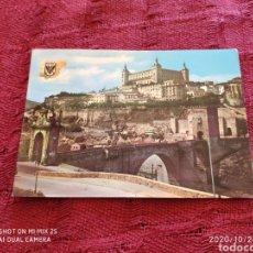 Postales: POSTAL PUENTE DE ALCÁNTARA Y ALCÁZAR (TOLEDO) (1963). Lote 222519012