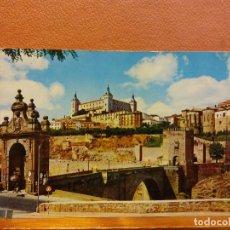 Postales: TOLEDO. PUENTE DE ALCANTARA Y ALCAZAR. BONITA POSTAL. SIN USAR. Lote 223107513