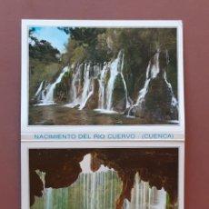 Postales: ALBUM DESPLEGABLE 10 POSTALES. EDICIONES SICÍLIA. NACIMIENTO DEL RÍO CUERVO. CUENCA. 1990.. Lote 227063580