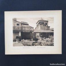 Postales: GRAN FOTOTIPIA- FOTOGRAFÍA IMPRESA JARDIN DE LA CASA EL GRECO ,TOLEDO, FOTO OTTO WUNDERLICH,. Lote 227702741