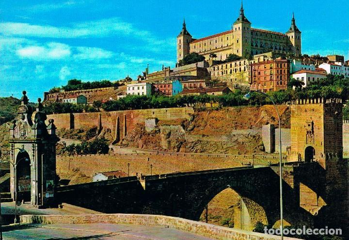 TOLEDO, PUENTE DE ALCANTARA Y EL ALCAZAR (Postales - España - Castilla la Mancha Moderna (desde 1940))