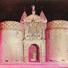 Postales: TOLEDO, PUERTA BISAGRA ILUMINADA. Lote 228007510