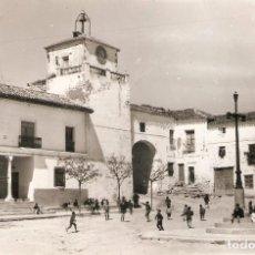 Postales: INIESTA (CUENCA) PLAZA DEL CAUDILLO.. Lote 234431850