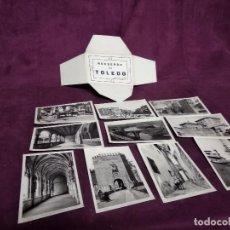 Postales: LOTE DE 10 POSTALES EN B/N DE TOLEDO, EN ESTUCHE DE CARTÓN, UNOS 14 X 9 CMS.. Lote 236000925
