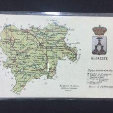 Postales: ALBACETE - MAPA DE LA PROVINCIA - ALBERTO MARTÍN EDITOR (BARCELONA). Lote 236003685