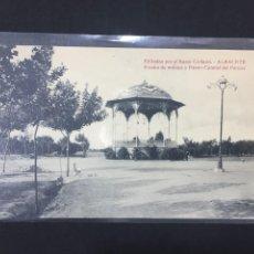 Postales: ALBACETE - KIOSCO DE MÚSICA Y PASEO CENTRAL DEL PARQUE - EDITADA POR BAZAR COLLADO. Lote 236007445