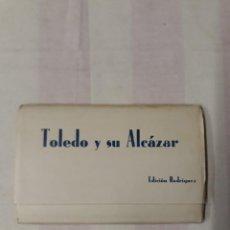 Postales: TOLEDO Y SU ALCÁZAR. EDICIÓN RODRÍGUEZ. DESPLEGABLE CON 15 POSTALES. Lote 236543615