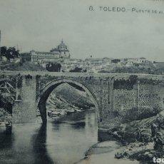 Postales: TOLEDO PUENTE DE ALCÁNTARA POSTAL 9 X 13 CTMS.... Lote 242405640